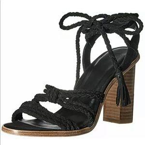 Joie Banji Suede Braided Tie Sandals 38 (8) NEW!